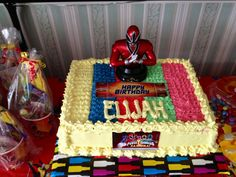 Power Ranger birthday cake