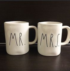 Rae Dunn Magenta MR AND MRS Cup / Mug