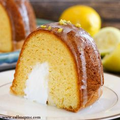 Cream Filled Lemon Bundt Cake Recipe - RecipeChart.com