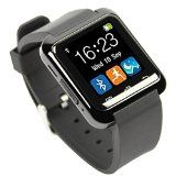EasySMX Bluetooth 4.0 Multi-Languages Smart Bande Watch Smartwatch avec Ecran Tactile Montre Intelligent Support OS Android Smartphones Including Samsung HTC Sony (Noir)