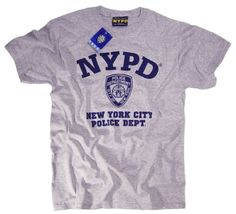 NYPD T-Shirt Authentic Clothing Apparel Officially Licensed Merchandise by The New York City Police Department:Amazon.co.uk:Clothing