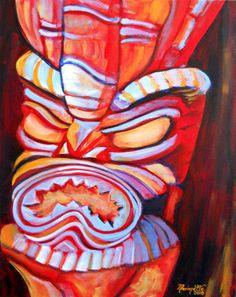 Tiki Man Canvas Print / Canvas Art By Marionette Taboniar Canvas Art, Canvas Prints, Art Prints, Tiki Man, Tiki Totem, Caribbean Culture, Hawaiian Art, Daylight Savings Time, Art For Sale