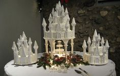 Castle Fountain Wedding Cakes
