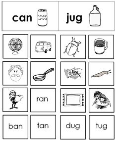 Free Rhyming Picture Sort Center #phonemicawareness
