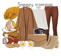 """Sneezy"" by leslieakay ❤ liked on Polyvore featuring H&M, 7 For All Mankind, MICHAEL Michael Kors, AZ Collection, disney, disneybound and disneycharacter"