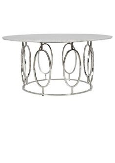 Coffee Tables / Cocktail Tables, Contemporary White Marble Polished Nickel Coffee Table, so elegant, one of over 3,000 limited production interior design inspirations inc, furniture, lighting, mirrors, tabletop accents and gift ideas to enjoy repin and share at InStyle Decor Beverly Hills Hollywood Luxury Home Decor enjoy  happy pinning