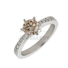 MP Jewellery Handmade Champagne Diamond Engagement Ring