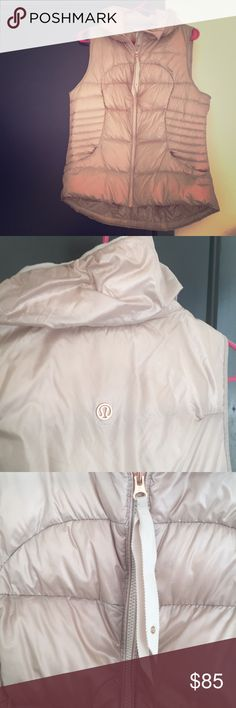 NWOT Lululemon goose down vest This item is practically new, worn twice and washed once. Hung to dry. No noticeable defects. SUPER WARM! 90% goose down. High fill count without the extra puffy look. Rose gold Lululemon detailing. Beautiful addition to anyone's winter wardrobe! lululemon athletica Jackets & Coats Vests