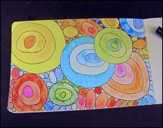 Soft circles.  New take on my analogous circles for 5th.