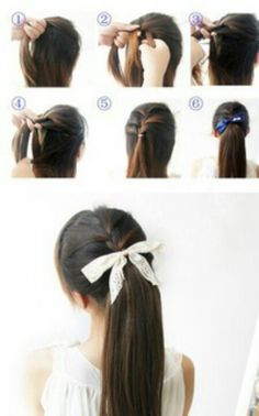 DIY hairstyle.turned out okay. Easy to do