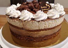 Csoki mánia torta 🍫🎂 | Margaréta 🌼 receptje - Cookpad receptek Vanilla Cake, Tiramisu, Mousse, Goodies, Pudding, Yummy Food, Ethnic Recipes, Cakes, Sweet Like Candy