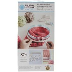 Knitting Boards and Looms 113343: Lion Brand Yarn Martha Stewart Crafts Knit And Weave Loom Kit New -> BUY IT NOW ONLY: $33.59 on eBay!