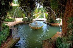 The Generalife Gardens near Alhambra.