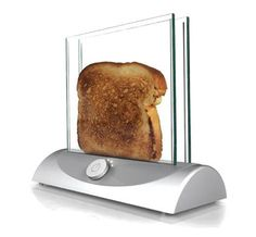 Glass toaster ~ Anyone else want one of these? But it only does one slice at a time? I hope it is fast!