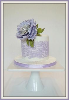 Lavender Lace by J. Winslow.  dark chocolate cake with java butter cream.