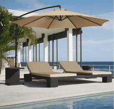 FARLAND Offset umbrella 10 Ft Cantilever Patio Umbrella Outdoor Market umbrellas with cross base (Beige) Beach Canopy, Backyard Canopy, Garden Canopy, Diy Canopy, Canopy Outdoor, Gazebo, Fabric Canopy, Canopy Tent, Ikea Canopy