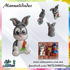 Artesanies #clay #bugsbunny #bonnie #polymer #manualidades www.artesanies.com.mx
