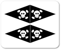 Pirate template .free printable cupcake flags assorted designs