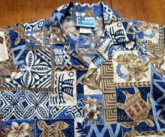 RJC Hawaiian Aloha Shirt 3T Outrigger Turtle Palm Fronds Hibiscus Tribal Toddler #RJC #Everyday