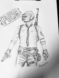 Pubg Drawing Nice Pubg Drawing 56 With Additional for Pubg Drawing Pencil Sketches Easy, Easy Drawings Sketches, Pencil Art Drawings, Drawing Ideas, Sketch Ideas, Name Drawings, Dancing Drawings, Marvel Drawings, Black And White Art Drawing