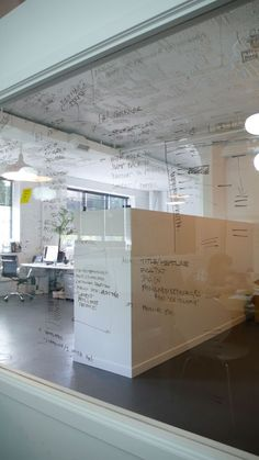 Large whiteboard - Engine Digital Offices, Vancouver. Imagine if this also used dimmable Smart Glass...