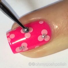 Full Video is Live on my YouTube Channel: OHMYGOSHPOLISH . Again I used  @seasirencosmetics  Sailaway Heather Pamper Me Pink and Reflections. Dotting Tool from @picturepolish . Song is Love Story by Taylor Swift.
