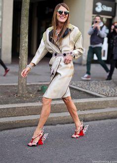 Ana Dello Russo and her Prada shoes
