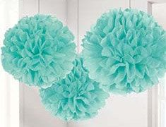 Our decorative cool pom pom decorations are the perfect addition to any wedding or party or baby shower - very versatile colour. Sold as a pack of 3 and each individual one measures 40cm (16). Please note: The Pom Poms come flat packed and need to be assembled (fluffed up!) :::::::::::::::::::::::::::::::::::::::::::::::::::::::::::::::::::::::::::::::::::::::::::::::: Product description : Pom Pom Paper Flower Ball . Like paper peonies, fabulously fluffy, incredibly versatile, this tis...