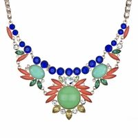 Romia's Colorful Baroque Style Statement Necklace