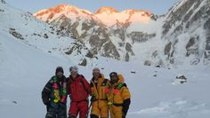 Alex Txikon, Tamara Lunger, Simone Moro and Ali Sadpara (from left to right.) In the CB after making the first ascent of Nanga Parbat winter. February 2016