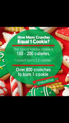 Let's have our ABS and eat COOKIES too!! Share your favorite AB WORKOUT and tag #25daysofFITmas - because cookies don't count during Christmas right??!! Show us how you are staying healthy and HAPPY this holiday!!
