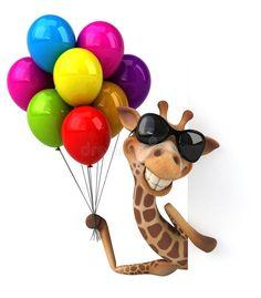 Happy Birthday Messages, Birthday Greetings, Birthday Wishes, Funny Giraffe, Giraffe Art, Colorful Pictures, Cute Pictures, Giraffe Pictures, 3d Foto