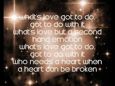 """Song Selected for Poem Page Tina Turner """"What love got to do with it""""…Chapter. 5 Love to the Epigram Impetus Recipe Bible Song Lyric Quotes, Tv Quotes, Music Lyrics, Music Quotes, Girl Power Songs, Song Words, Beautiful Lyrics, Tina Turner, Piece Of Music"""