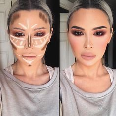 Contour lines appear to be tricky and complex. Yet, if you have a proper, detailed guidance at hand there is nothing impossible. It happens so that we have what you need and we are more than happy to share it with you! Create than flawless look all the celebrities sport in no time with our useful tips and tricks! #makeup #makeuplover #makeupjunkie #contourlines