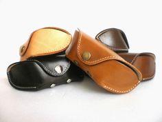 Celyfos ® glasses case veg tan leather for Oakley от Celyfos