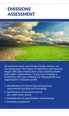Contact Amberg for Emissions Assessment at (403) 247-3088 or visit us online at www.amberg.ca
