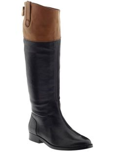 Lauren by Ralph Lauren Janessa Boots Gah!!! I've been looking for the perfect pair of black/brown riding boots!!!