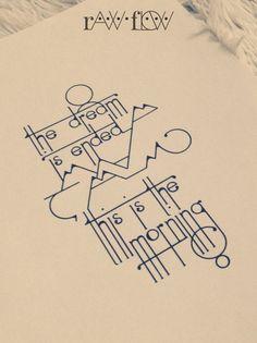 tattoo text mountain minimalist design typography
