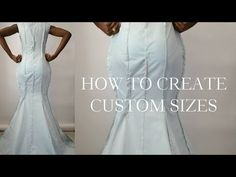 How To Make Your Drape Pattern Fit Your Size/Custom Sizes - YouTube