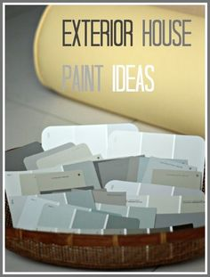 give your house a little curb appeal boost with these exterior house paint ideas