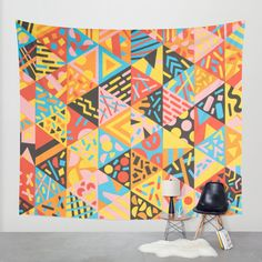 """Cutting Shapes"" Wall Tapestry by Tim Easley on Society6."