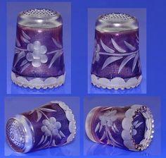 Glass Thimble West Germany   eBay