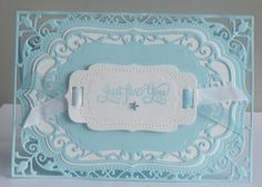 created by jan: Spellbinders Labels 4 Frame Card  This card, once ...