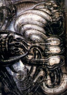 Spacetrip II by H. R. Giger
