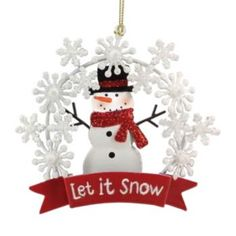 st nicholas square let it snow christmas ornament kohls