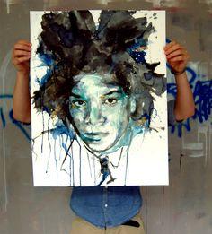 artist Antoine Stevens  portrait de Basquiat