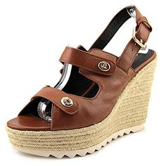 Coach Electra Leather Wedge Sandal