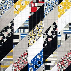 Sharp Edges Quilt by Michelle Engel Bencsko | Cloud9 Fabrics, via Flickr