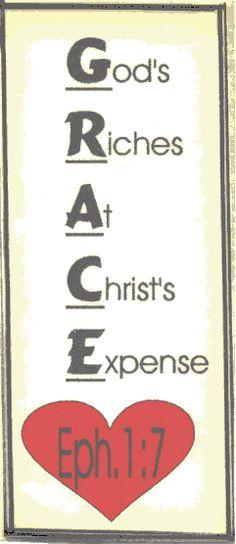 God's Grace Acrostic Scripture Poem