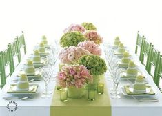martha stewart tablescapes | Try this! Why? Because it's easy, it's green, oh, and it's free!